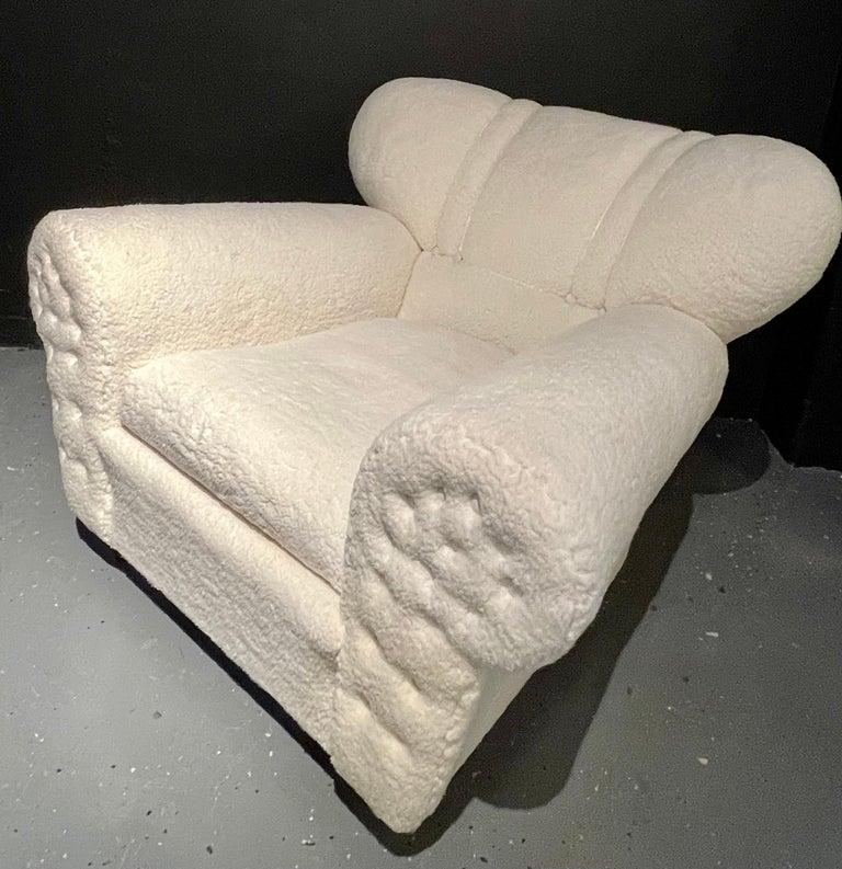 Mid-20th Century Mid-Century Modern Guglielmo Ulrich Lounge Chairs a Pair, Plush Sherpa Design