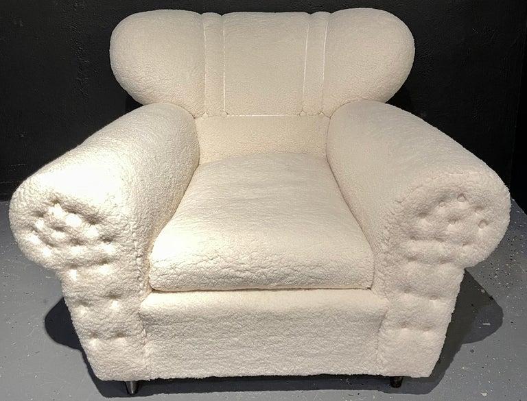Mid-Century Modern Guglielmo Ulrich Lounge Chairs a Pair, Plush Sherpa Design 2