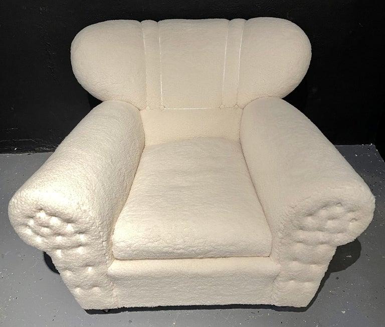 Mid-Century Modern Guglielmo Ulrich Lounge Chairs a Pair, Plush Sherpa Design 3