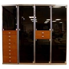 Mid-Century Modern Guido Faleschini Pace Mariani Set 4 Wardrobes Cabinets 1970s