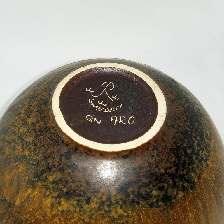 Mid-Century Modern Gunnar Nylund Ceramic Bowl Model ARO Rörstrand, Sweden For Sale 1