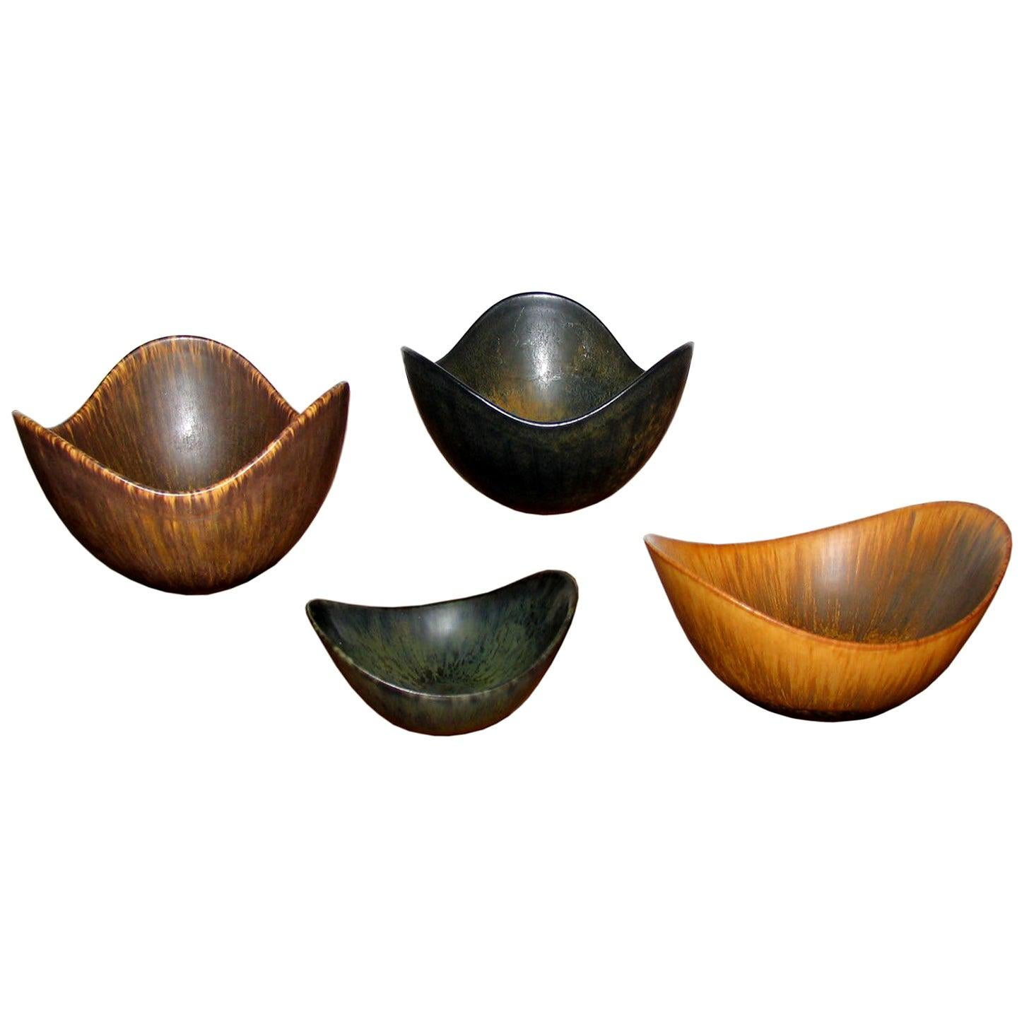 Mid-Century Modern Gunnar Nylund Ceramic Bowls Rörstrand, Sweden