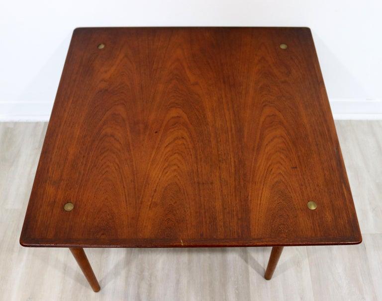 Mid-20th Century Mid-Century Modern Hagen & Strandgaard Danish Square Teak Side End Table, 1960s For Sale