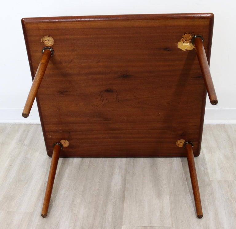 Mid-Century Modern Hagen & Strandgaard Danish Square Teak Side End Table, 1960s For Sale 2