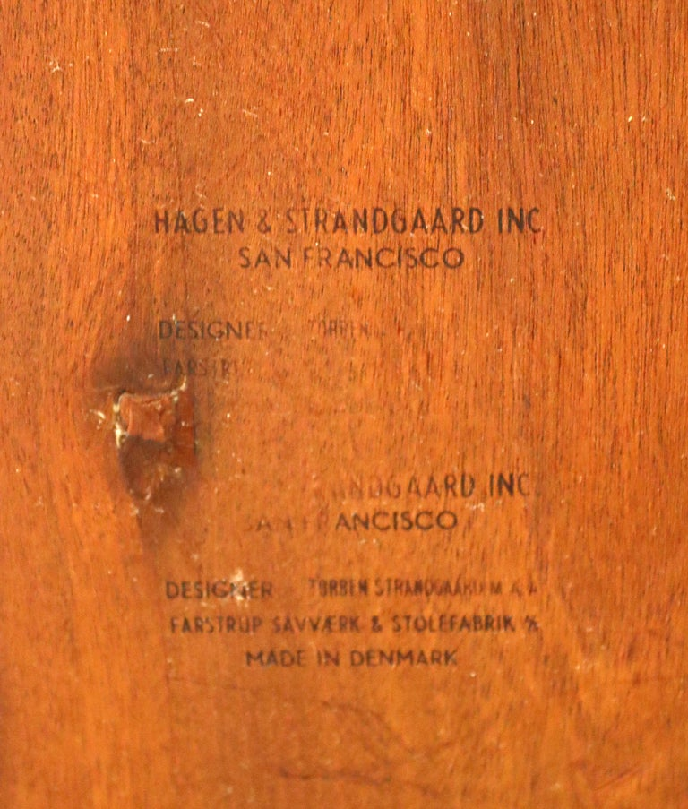 Mid-Century Modern Hagen & Strandgaard Danish Square Teak Side End Table, 1960s For Sale 3