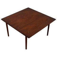 Mid-Century Modern Hagen & Strandgaard Danish Square Teak Side End Table, 1960s