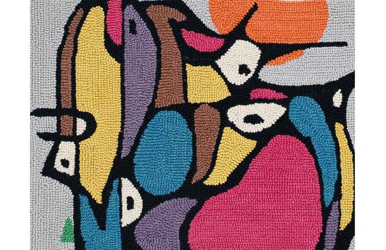 Mid-20th Century Mid-Century Modern Hand-Woven Wall Tapestry Art