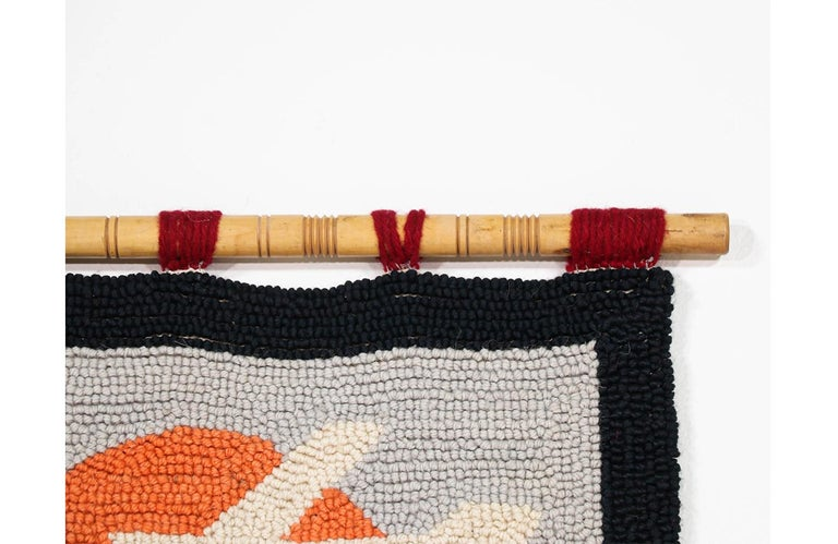 Mid-Century Modern Hand-Woven Wall Tapestry Art  1