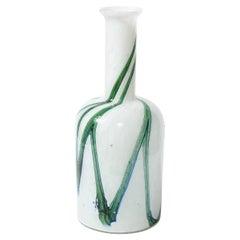 Mid-Century Modern Handblown Glass Vase by Otto Brauer Signed Holmegaard
