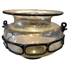 Mid-Century Modern Handcrafted Murano Glass Round Vase, circa 1970