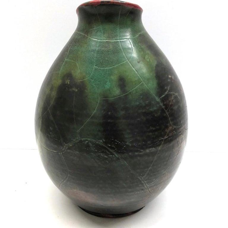 Mitte des Jahrhunderts Moderne Handgemachte Keramik, Steingut Krug Vase, 1950er Jahre 4