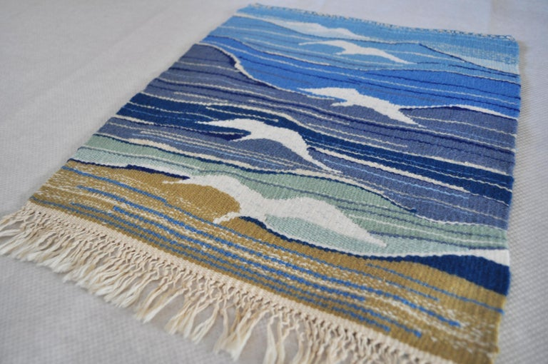 Mid-Century Modern Handwoven Scandinavian Wall Tapestry In Good Condition For Sale In Vordingborg, DK