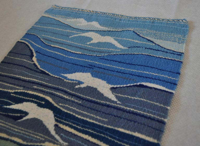 20th Century Mid-Century Modern Handwoven Scandinavian Wall Tapestry For Sale