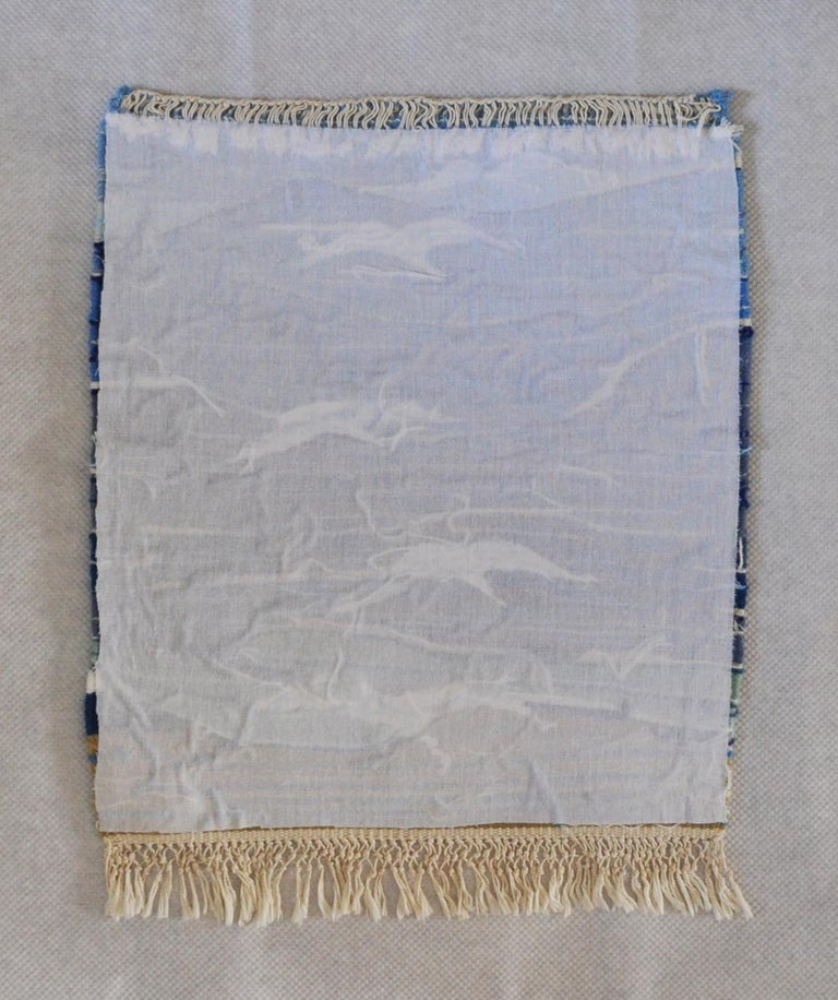 Wool Mid-Century Modern Handwoven Scandinavian Wall Tapestry For Sale