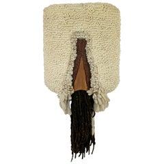 Mid-Century Modern Handwoven Wool Fiber Wall Art Abstract 1970s Robert Kidd Era