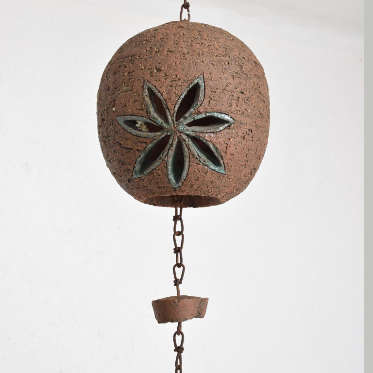 Metal Mid-Century Modern Hanging Pottery Hanging Decoration