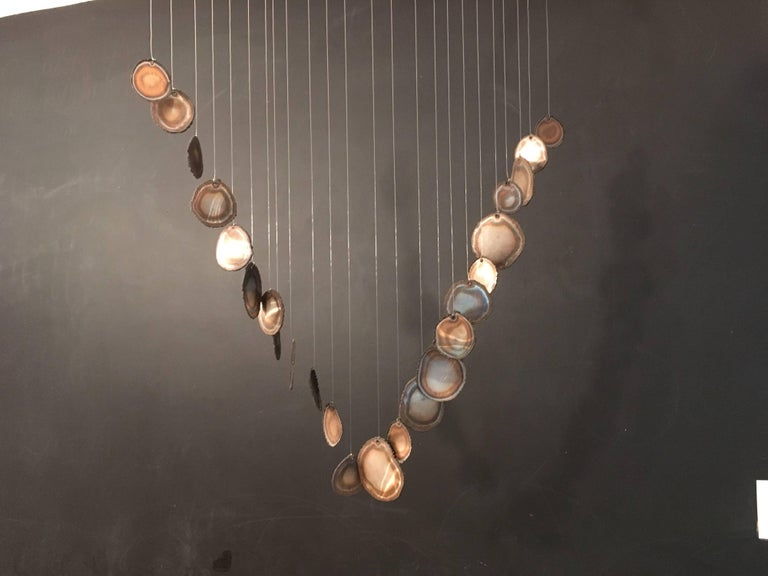 Mid-Century Modern Hanging Sculpture Mobile Wind Chime For Sale 1