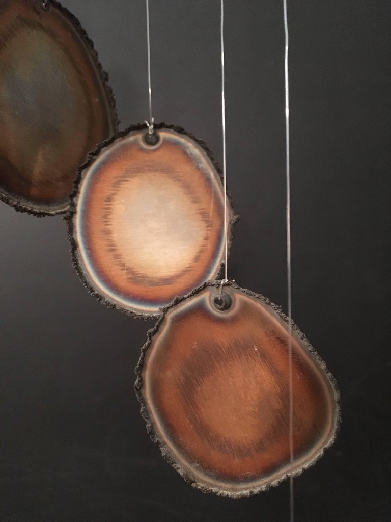 Mid-Century Modern Hanging Sculpture Mobile Wind Chime For Sale 2