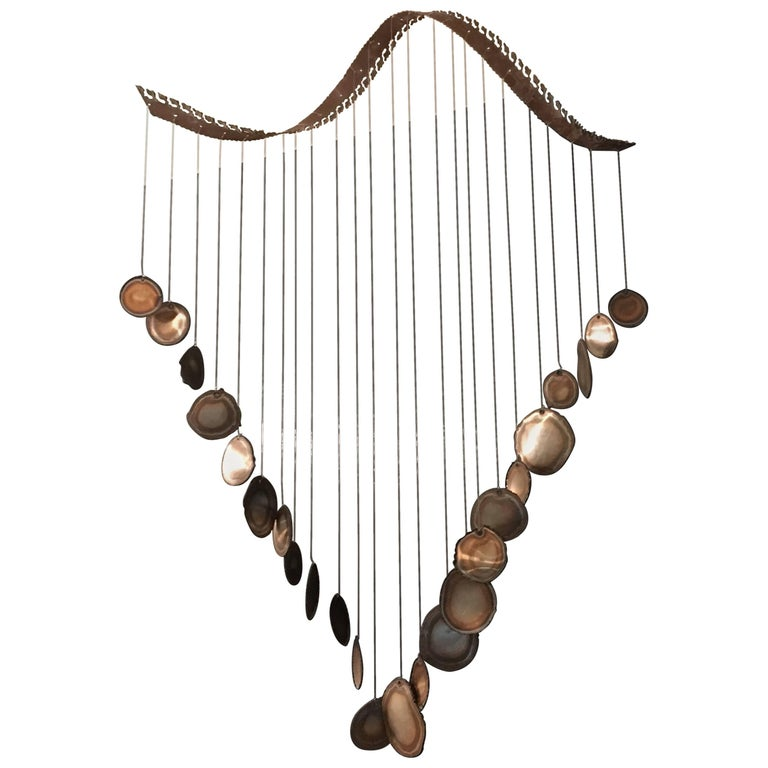 Mid-Century Modern Hanging Sculpture Mobile Wind Chime For Sale