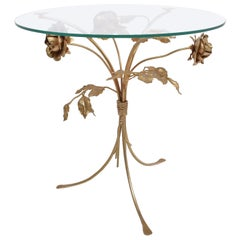 Mid-Century Modern Hans Kögl Gilt Floral Table or Guéridon