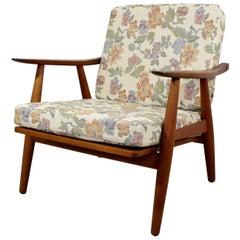 Mid-Century Modern Hans Wegner GE-270 Danish Teak Lounge Armchair, 1950s