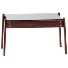 Mid-Century Modern Hardwood Percival Lafer Side Table for Lafer
