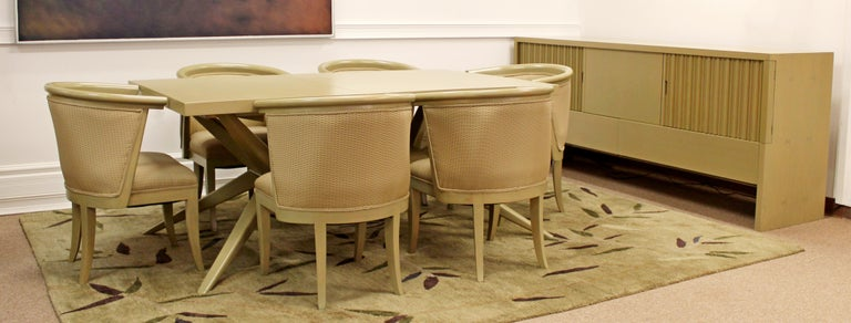 Mid-Century Modern Harold Schwartz for Romweber Credenza Dining Table & 6  Chairs