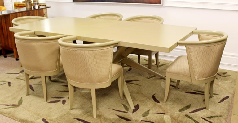 Mid-Century Modern Harold Schwartz for Romweber Set of 6 Dining Armchairs, 1950s For Sale 4