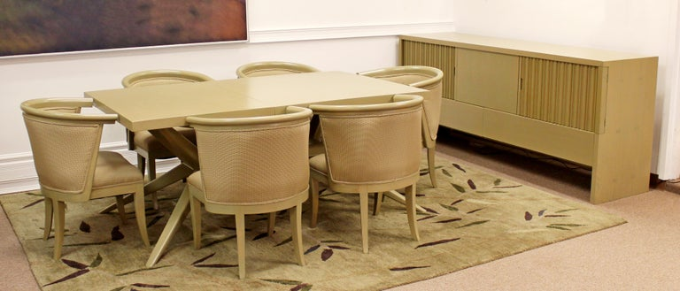 Mid-Century Modern Harold Schwartz for Romweber Set of 6 Dining Armchairs, 1950s For Sale 5