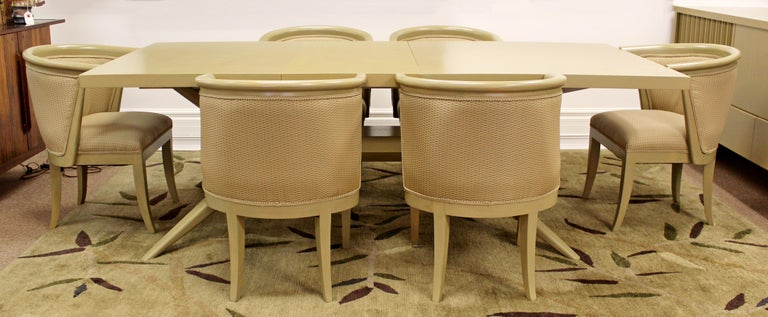 Mid-Century Modern Harold Schwartz for Romweber Set of 6 Dining Armchairs, 1950s For Sale 1