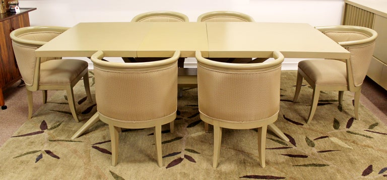 Mid-Century Modern Harold Schwartz for Romweber Set of 6 Dining Armchairs, 1950s For Sale 2