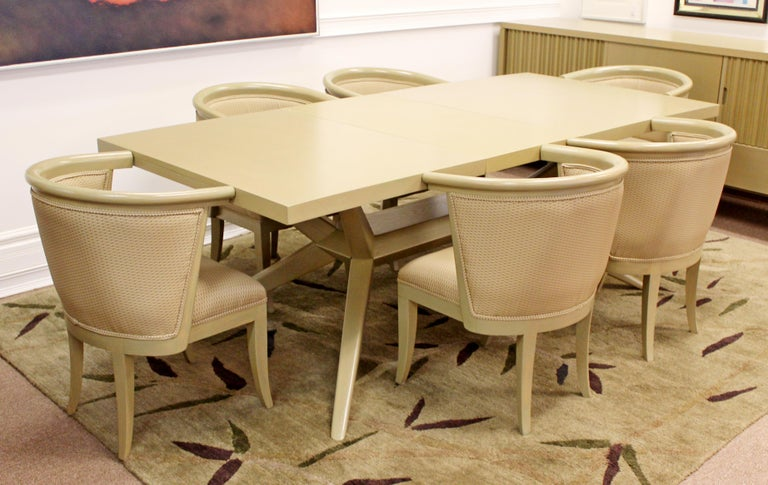 Mid-Century Modern Harold Schwartz for Romweber Set of 6 Dining Armchairs, 1950s For Sale 3