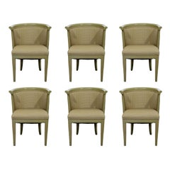 Mid-Century Modern Harold Schwartz for Romweber Set of 6 Dining Armchairs, 1950s