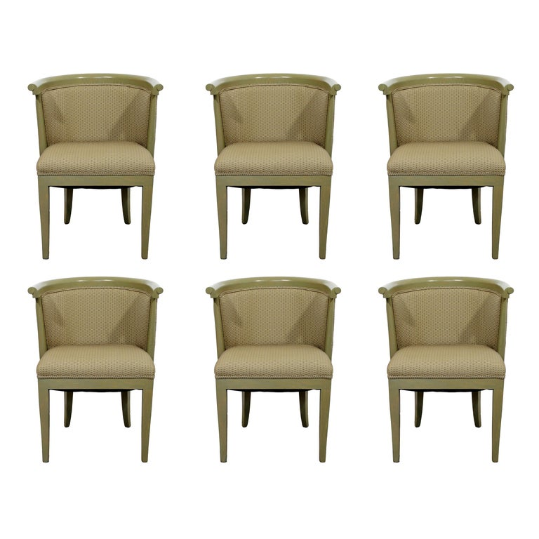 Mid-Century Modern Harold Schwartz for Romweber Set of 6 Dining Armchairs, 1950s For Sale