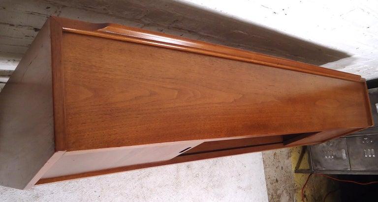 Wood Mid-Century Modern Headboard For Sale