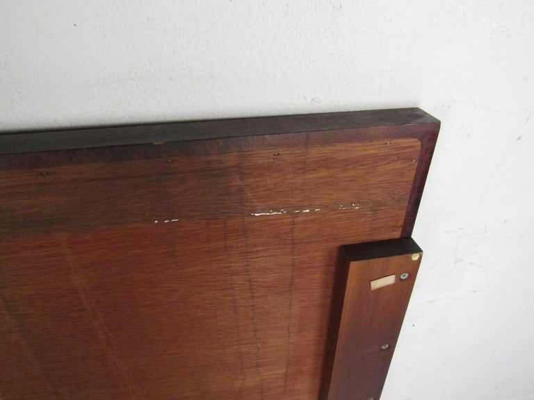 Mid-Century Modern Headboard with Cane Accents For Sale 8