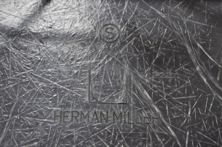Mid-Century Modern Herman Miller Eames Black Fiberglass RAR Rocker Rocking Chair For Sale 5