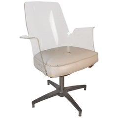 Mid-Century Modern Herman Miller Style Lucite Swivel Chair