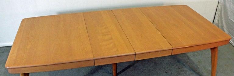 heywood wakefield dining room table | Mid-Century Modern Heywood-Wakefield Champagne Extendable ...