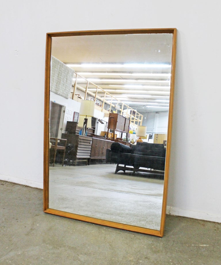American Mid-Century Modern Heywood Wakefield Champagne Mirror For Sale