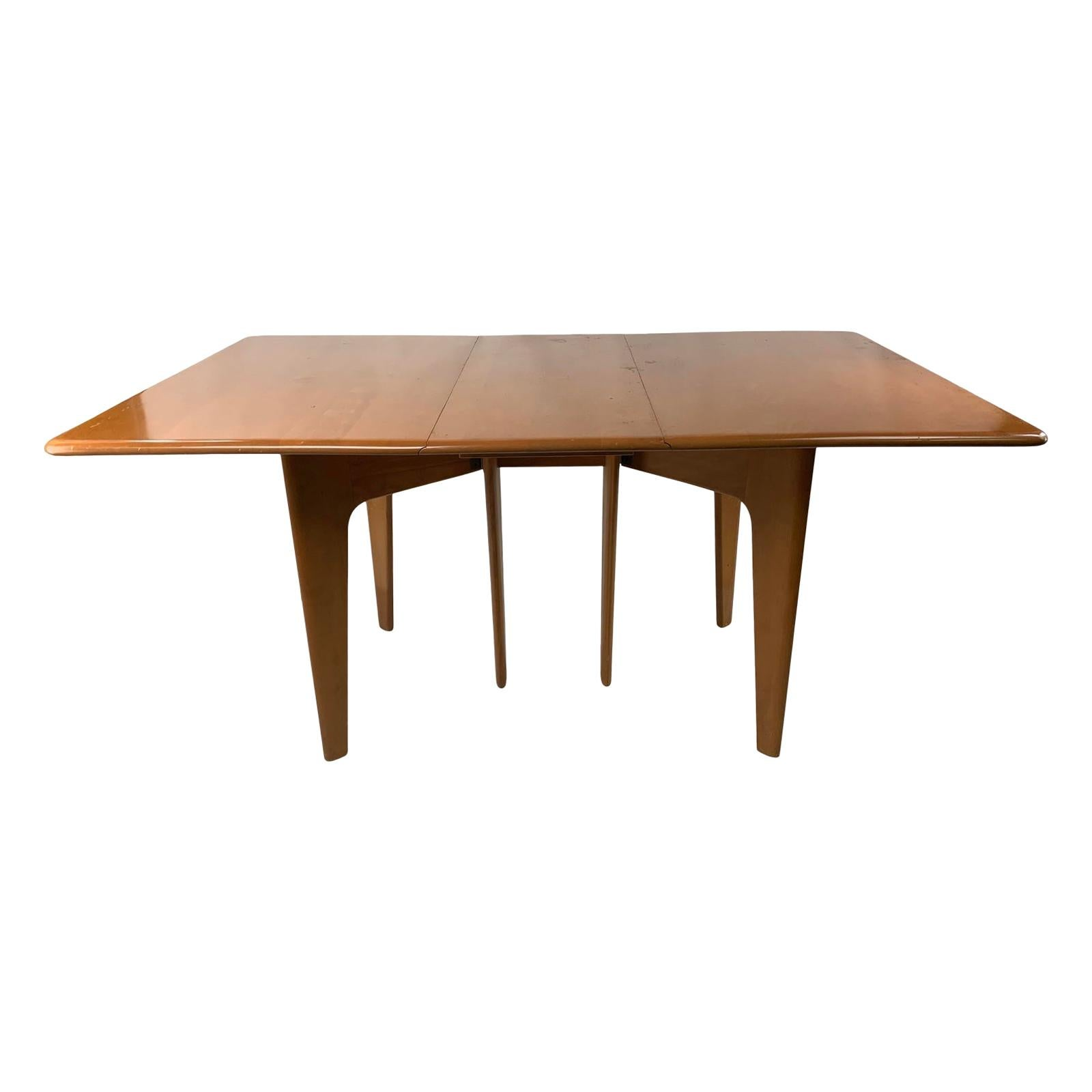 Mid-Century Modern Heywood Wakefield Drop Leaf Dining Table