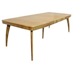 Mid-Century Modern Heywood Wakefield Wheat Extendable Dining Table