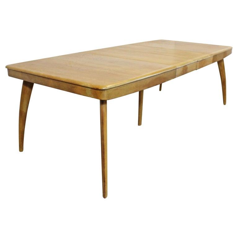heywood wakefield dining room table | Mid-Century Modern Heywood Wakefield Wheat Extendable ...