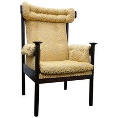 Mid-Century Modern High Back Armchair, 1970s