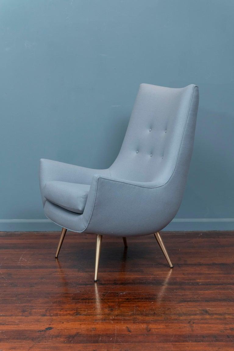 American Mid-Century Modern High Back Lounge Chair