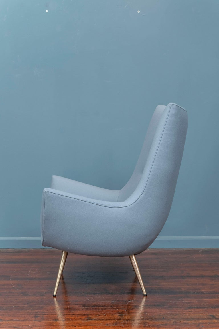 Mid-Century Modern High Back Lounge Chair In Good Condition In San Francisco, CA