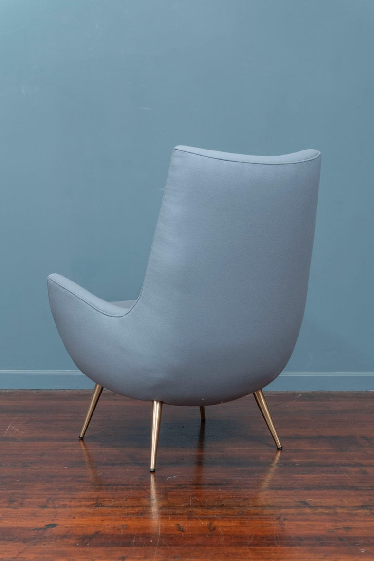 Mid-20th Century Mid-Century Modern High Back Lounge Chair