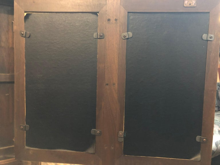 Mid-Century Modern High Boy Dresser with Cane Doors 2