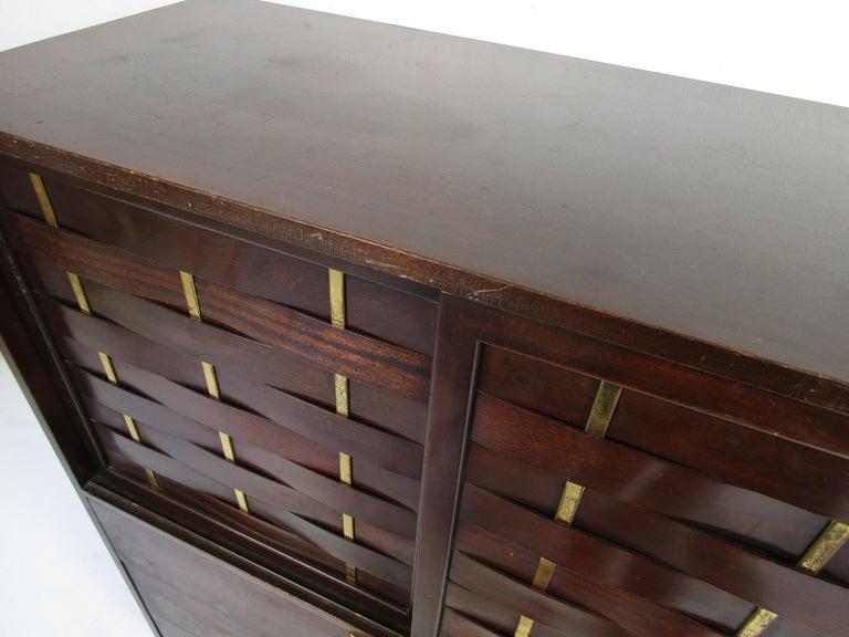 Mid-Century Modern High Dresser Designed by Harvey Probber For Sale 4