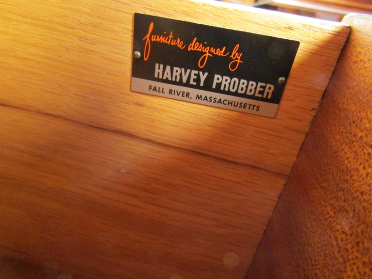 American Mid-Century Modern High Dresser Designed by Harvey Probber For Sale